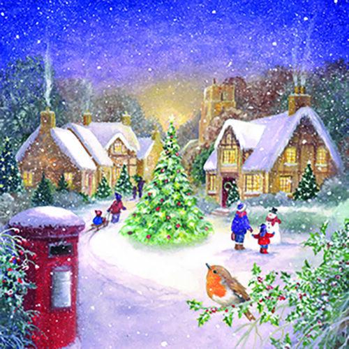 Festive Scene Christmas Cards